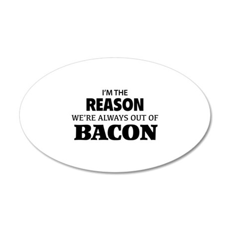 Bacon 22x14 Oval Wall Peel