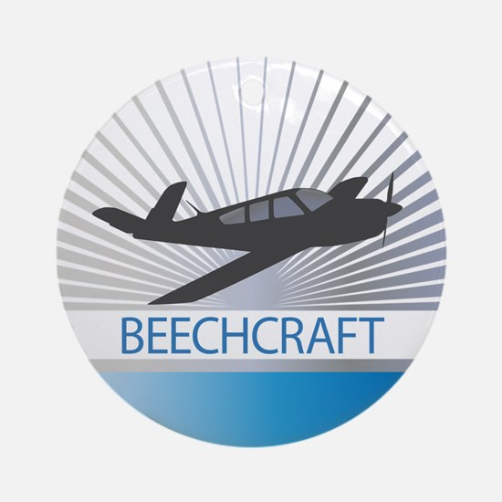 Aircraft Beechcraft Ornament (Round)
