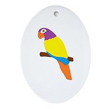 Parrot Bird Design Ornament (Oval)