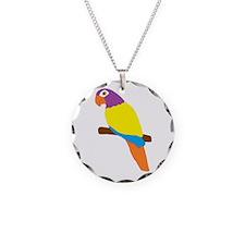 Parrot Bird Design Necklace Circle Charm