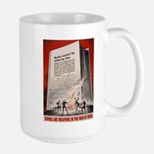 Books are Weapons Large Mug