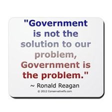 Ronald Reagan on Government Mousepad