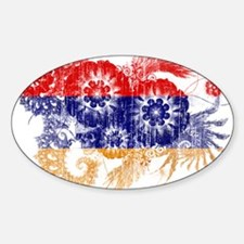 Armenia Flag Sticker (Oval)