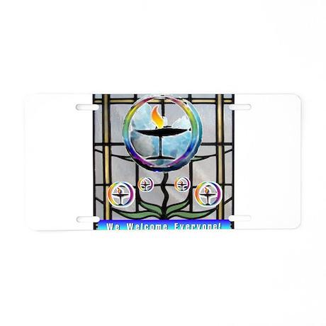 Unitarian 5 Aluminum License Plate
