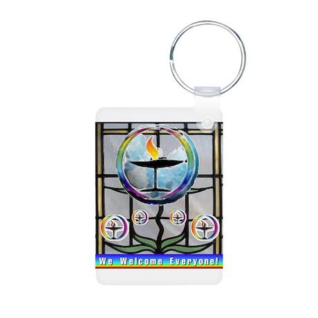 Unitarian 5 Aluminum Photo Keychain