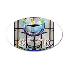 Unitarian 5 22x14 Oval Wall Peel