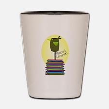 retired librarian BOOK BIRD 2.PNG Shot Glass