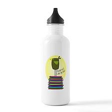 retired librarian BOOK BIRD 2.PNG Water Bottle