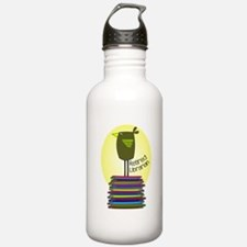 retired librarian BOOK BIRD 2.PNG Water Bottle