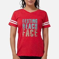 Resting Beach Face Color Womens Football Shirt