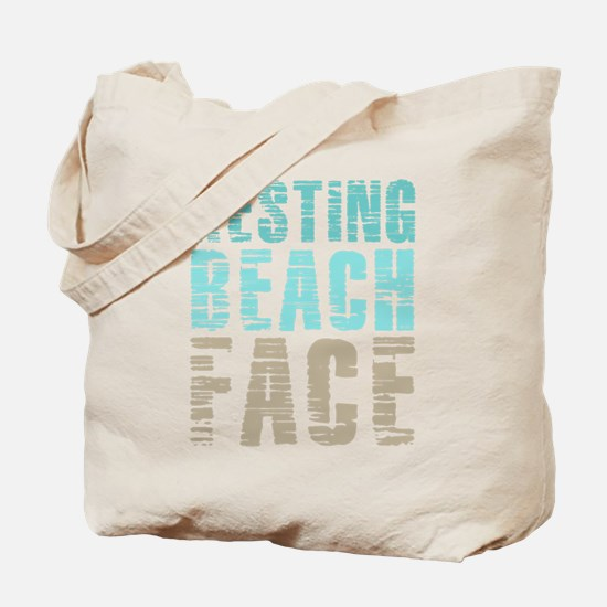 Resting Beach Face Color Tote Bag