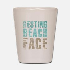 Resting Beach Face Color Shot Glass