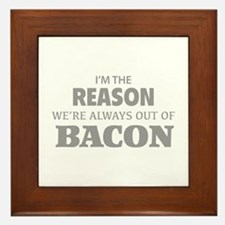 Bacon Framed Tile