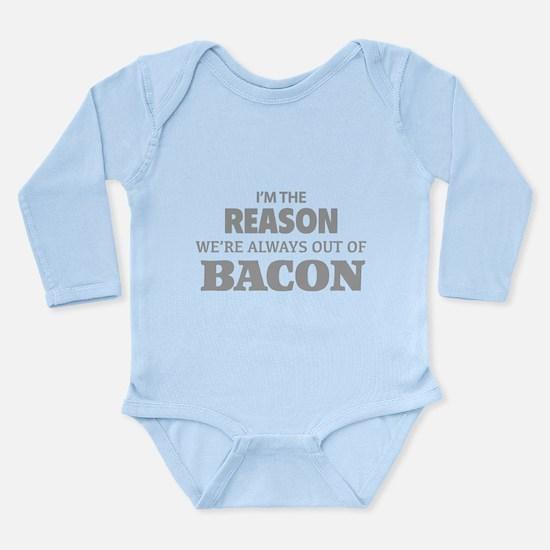 Bacon Long Sleeve Infant Bodysuit