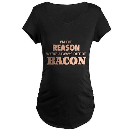 Bacon Maternity Dark T-Shirt