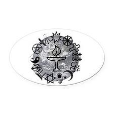 Unitarian 6 Oval Car Magnet