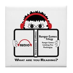 Audio Book Reader Tile Coaster