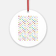 Rainbow Polka Dots Ornament (Round)
