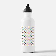 Rainbow Polka Dots Water Bottle