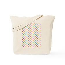 Rainbow Polka Dots Tote Bag