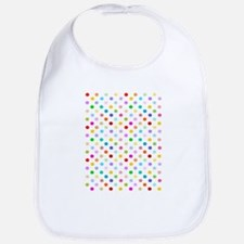 Rainbow Polka Dots Bib