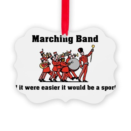 Marching Band Easier Picture Ornament