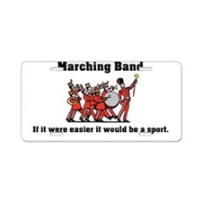 Marching Band Easier Aluminum License Plate