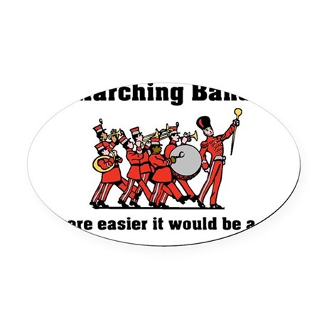 Marching Band Easier Oval Car Magnet