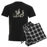 Tufted Toulouse Goslings Men's Dark Pajamas