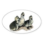 Tufted Toulouse Goslings Sticker (Oval 50 pk)