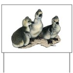 Tufted Toulouse Goslings Yard Sign