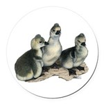 Tufted Toulouse Goslings Round Car Magnet