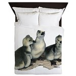 Tufted Toulouse Goslings Queen Duvet
