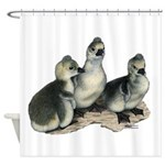Tufted Toulouse Goslings Shower Curtain