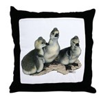 Tufted Toulouse Goslings Throw Pillow