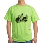 Tufted Toulouse Goslings Green T-Shirt