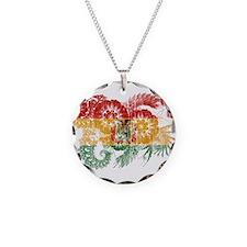 Bolivia Flag Necklace