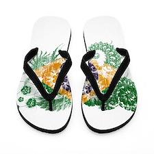 Brazil Flag Flip Flops