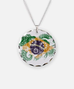Brazil Flag Necklace