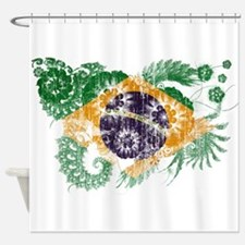 Brazil Flag Shower Curtain