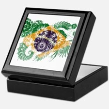 Brazil Flag Keepsake Box