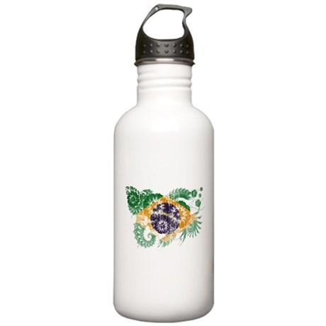 Brazil Flag Stainless Water Bottle 1.0L