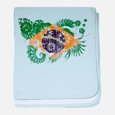 Brazil Flag baby blanket