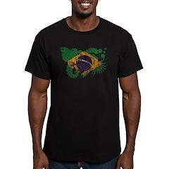 Brazil Flag Men's Fitted T-Shirt (dark)