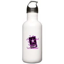 In Love With A Soldier Water Bottle