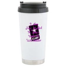 In Love With A Soldier Travel Mug