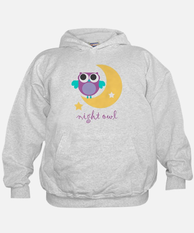 night owl with moon and star.png Hoody