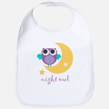 night owl with moon and star.png Bib