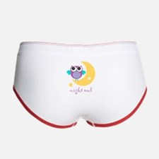 night owl with moon and star.png Women's Boy Brief