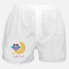 night owl with moon and star.png Boxer Shorts